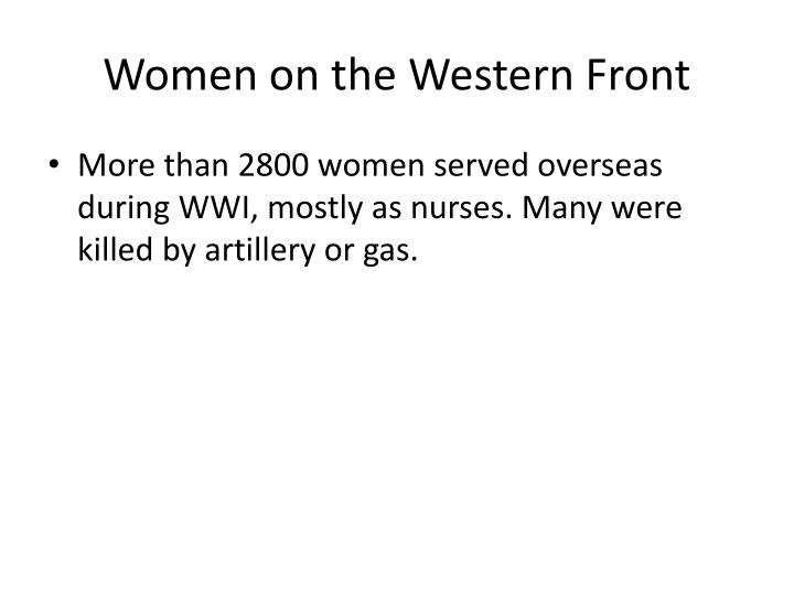 Women on the Western Front