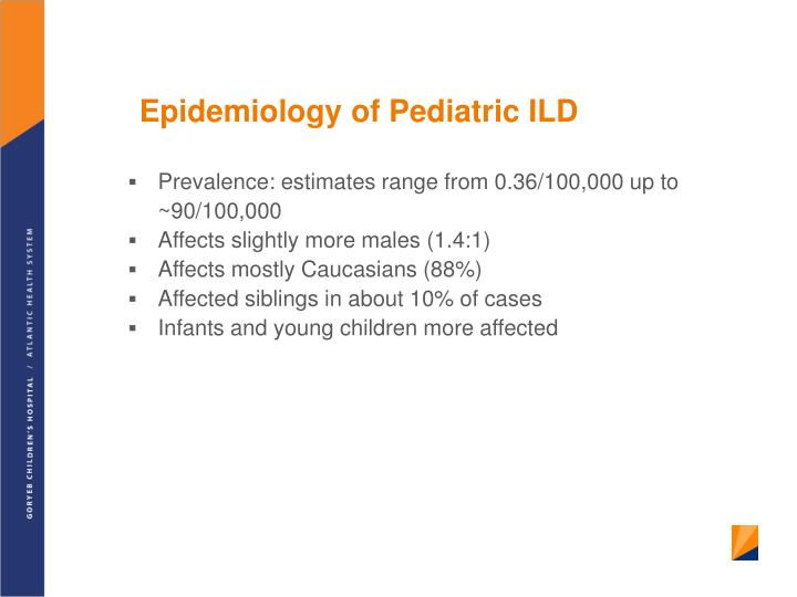 Epidemiology of Pediatric ILD