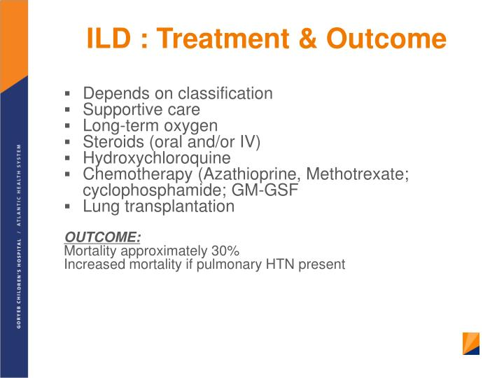 ILD : Treatment & Outcome