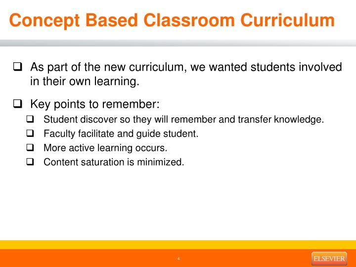 Concept Based Classroom Curriculum
