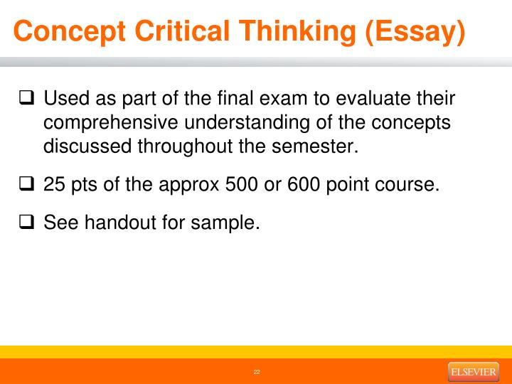 Concept Critical Thinking (Essay)