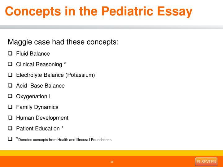 Concepts in the Pediatric Essay