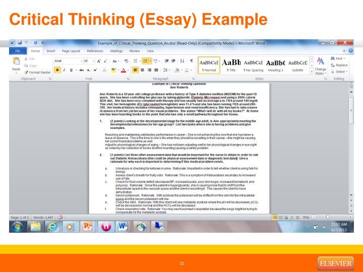 Critical Thinking (Essay