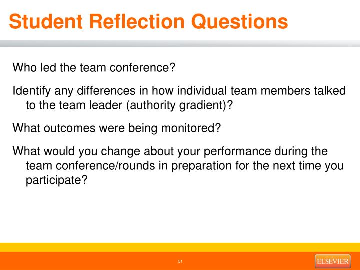 Student Reflection Questions