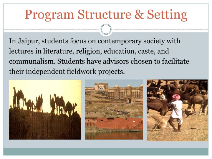 Program Structure & Setting