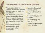 development of the scholler process