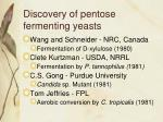 discovery of pentose fermenting yeasts