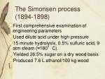 the simonsen process 1894 1898