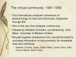 the virtual community 1981 1982