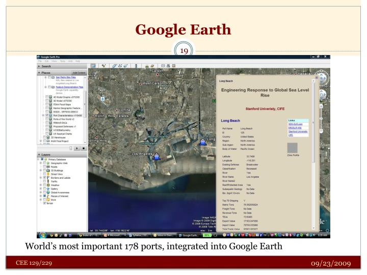 World's most important 178 ports, integrated into Google Earth