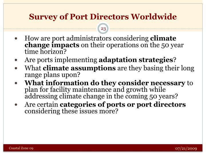 Survey of Port Directors Worldwide