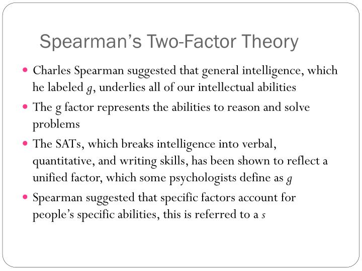 charles spearman two factor theory
