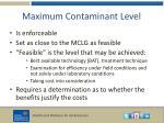 maximum contaminant level