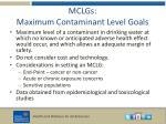 mclgs maximum contaminant level goals