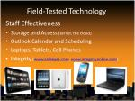 field tested technology10