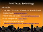 field tested technology4