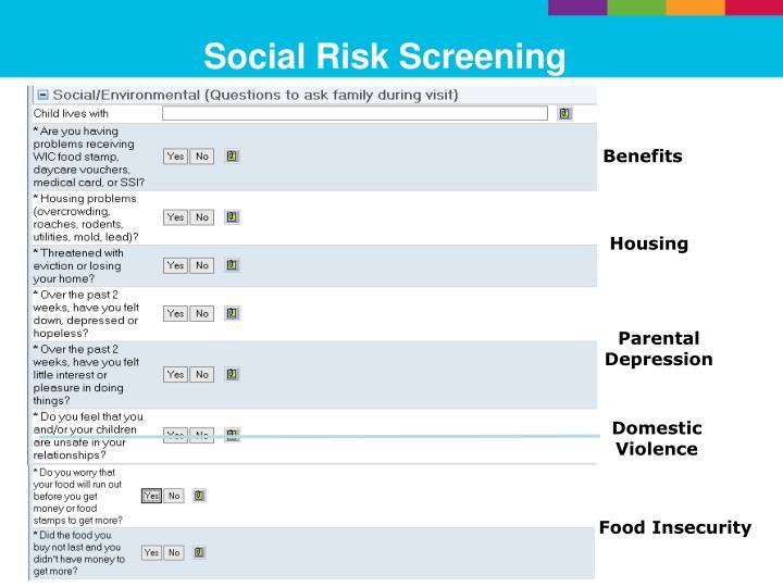 Social risk screening