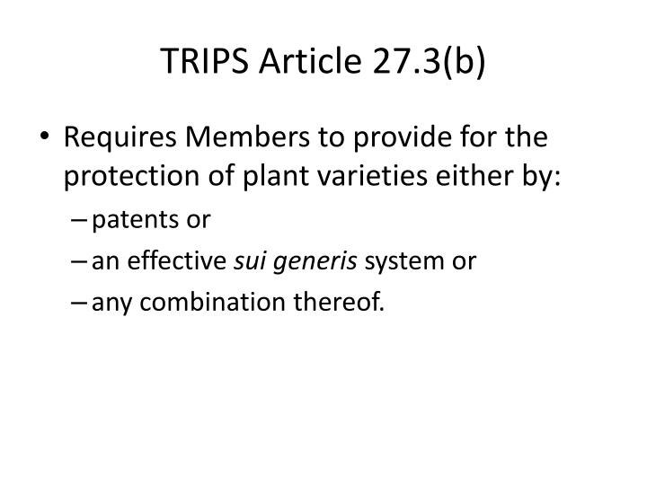 TRIPS Article 27.3(b)