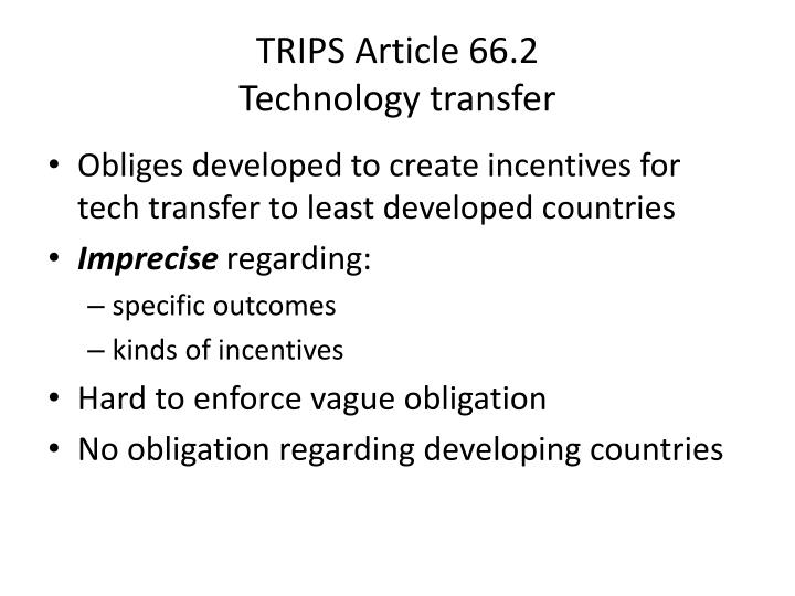TRIPS Article 66.2