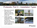 protocols part 3 installation types