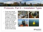 protocols part 3 installation types1