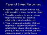 types of stress responses