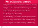 why environmental ambition