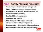 plan safety planning processes