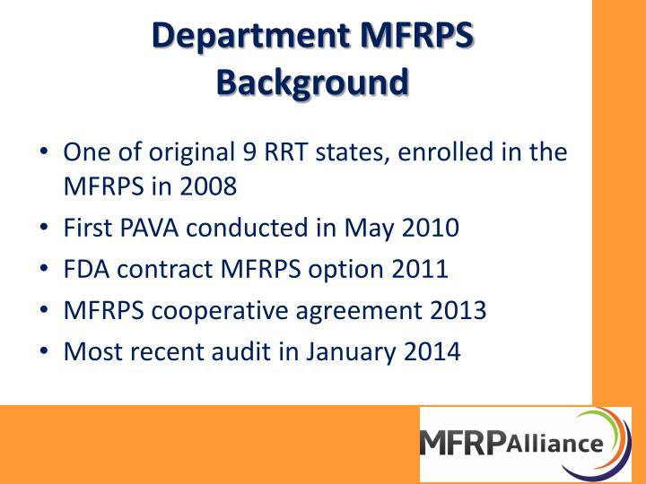Department MFRPS