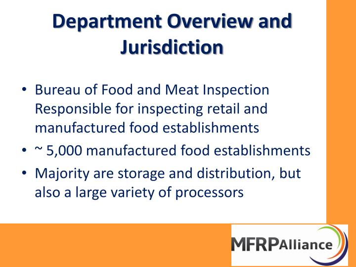 Department overview and jurisdiction1