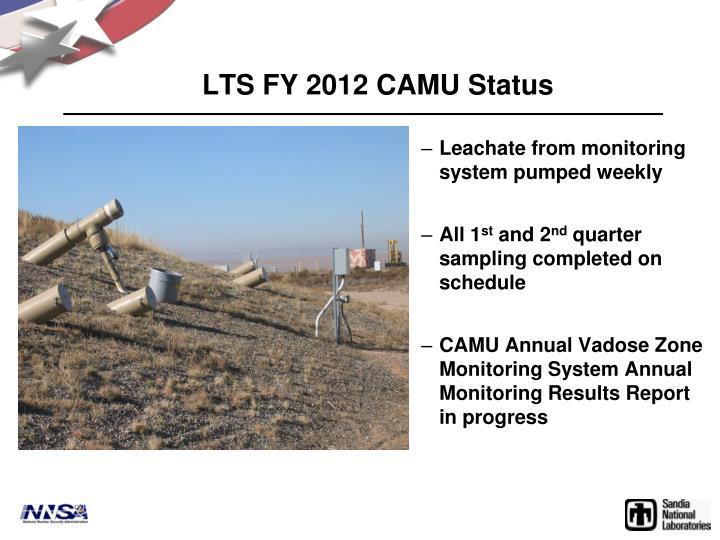 LTS FY 2012 CAMU Status
