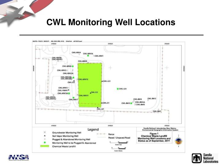 CWL Monitoring Well Locations