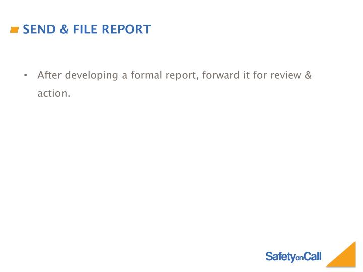 Send & File Report