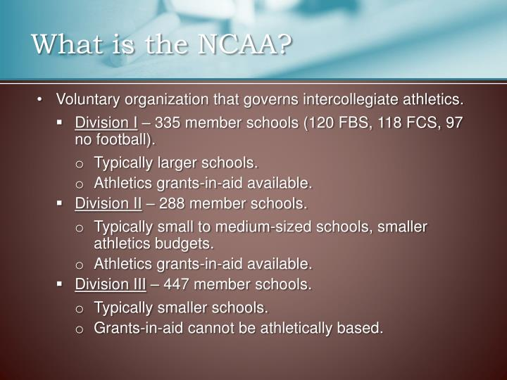 What is the ncaa