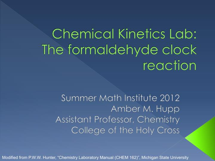 kinetics lab Ap chemistry kinetics of a reaction lab by jonathanchen77 in types research science.