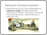dating the cambrian explosion4
