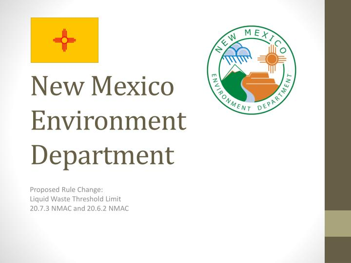 New mexico environment department