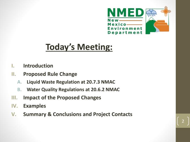 Today's Meeting: