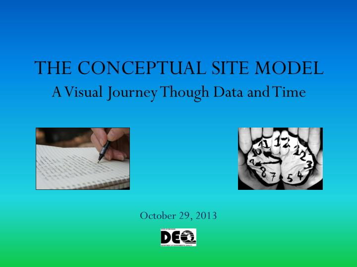the conceptual site model a visual journey though data and time