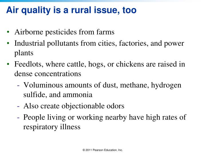 Air quality is a rural issue, too