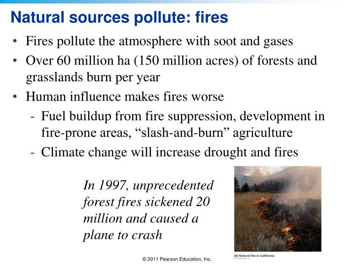 Natural sources pollute: fires