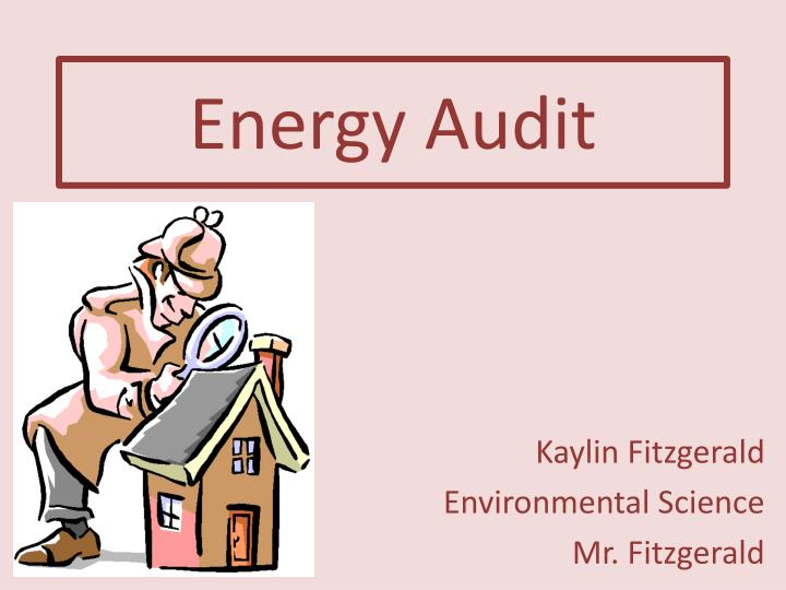 energy audit n.