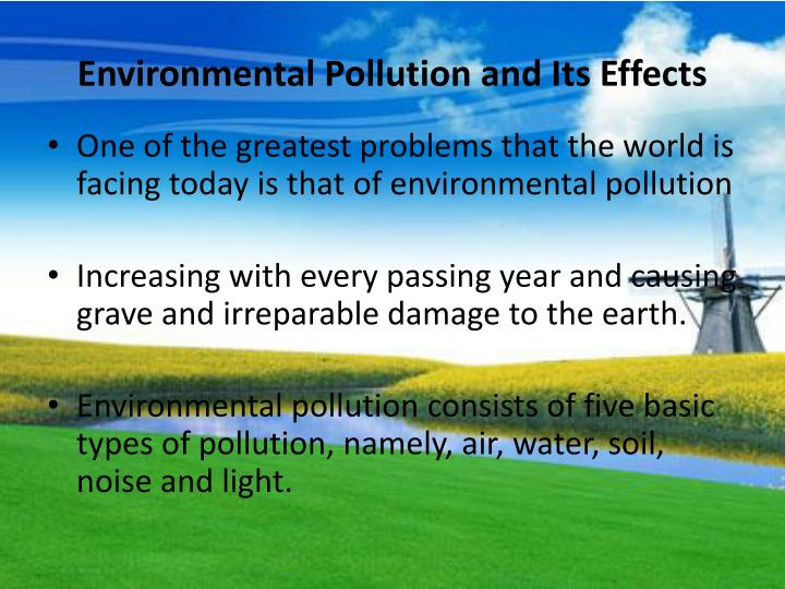 effects of air water and noise pollution