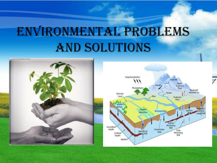 environmental problem and solution essays Short essay on environmental pollution  thousands of the residents of bhopal died due to lungs problem which was caused by methylamine gas from the union carbide plant the garbage emitting foul smell, the decaying plants and animals also cause air pollution hence the doctors advise the patients having lungs trouble to settle in some rural places because the air of villages is pure and.
