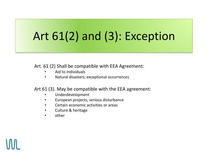 Art 61(2) and (3): Exception