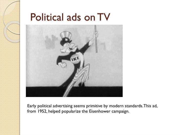 Political ads on TV