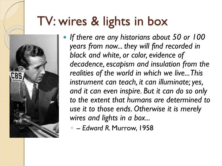Tv wires lights in box