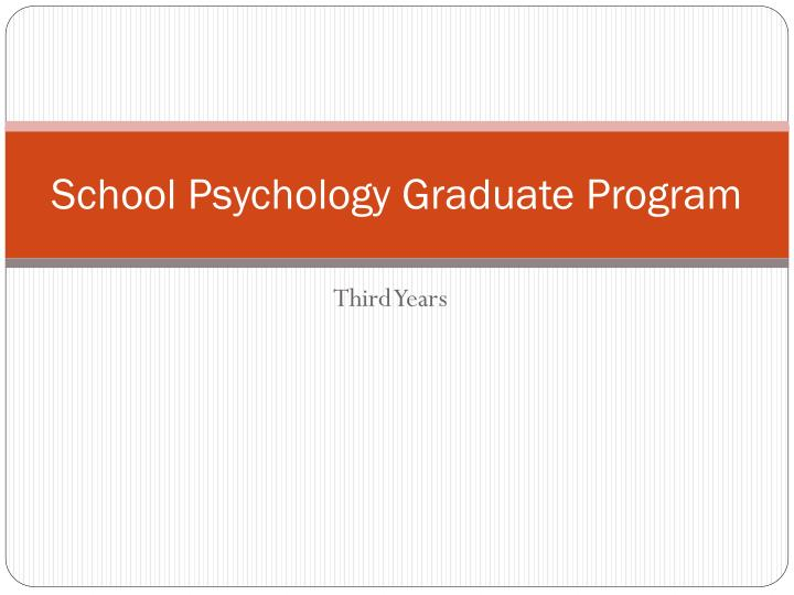 school psychology graduate program