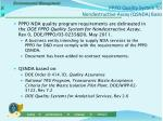 pppo quality system for nondestructive assay qsnda basis