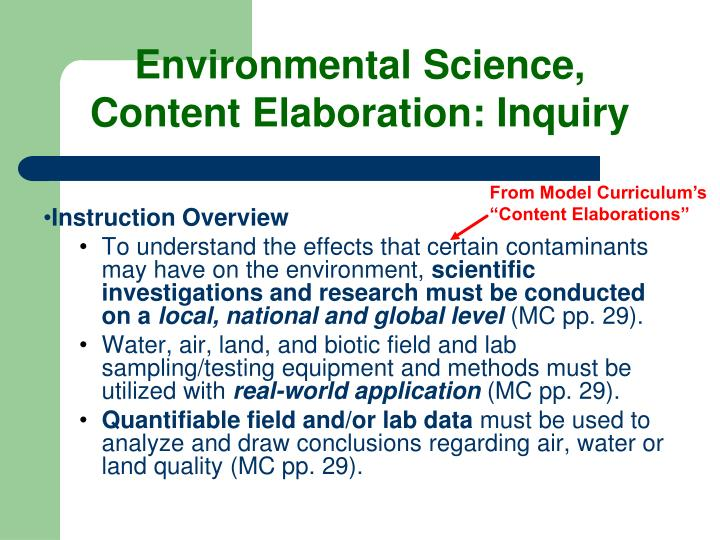 Environmental Science,
